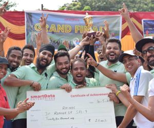 Rhinos- First runners Up (was awarded a cheque of Rs 25000/- and a runners up trophy)