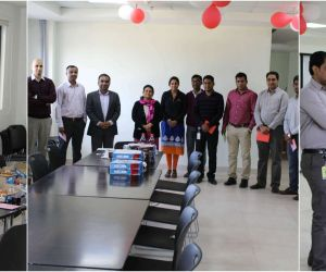 Pizza party for successful completion of project
