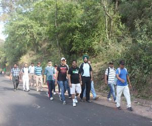 Unfit walk- Group of employees selected by our founder to walk the 10km trek and develop healthy activity habits.