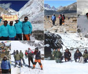 "Everest Base Camp- A team of 5 smarTians summited the Everest Base Camp led by the CEO. The team named as ""HIMPANCH"" scaled 2 peaks ""Gokyo Ri"" and ""Everest Base camp"" in a span of 10 days. The daring team is an inspiration for others and lived up our motto of ""Scaling Expectations""."
