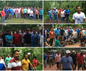 Trek @Nagpur- As part of our fitness theme, close to 50 smartians from Nagpur office along with visiting smartians from Mohali office, did a nature walk starting 5:30am from Seminary hills, a popular hangout of Nagpur. Smartians had a 6kms walk.